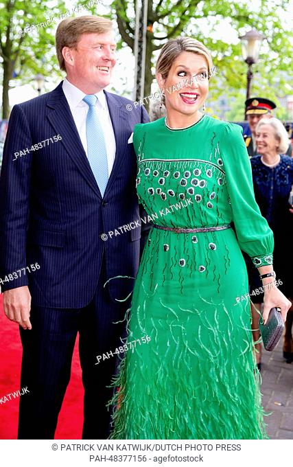 King Willem-Alexander and Queen Maxima of The Netherlands attend the Concert on the Amstel at the end of Liberation Day in Amsterdam, The Netherlands
