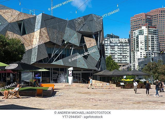 Federation Square in central Melbourne, Victoria, Australia