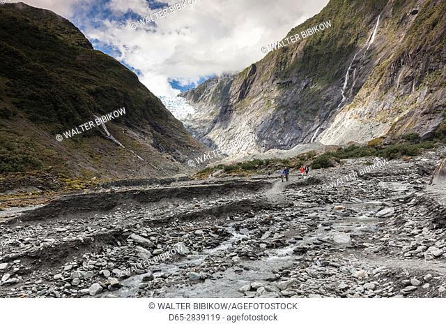 New Zealand, South Island, West Coast, Franz Josef, Franz Josef Glacier, Waiho River hike