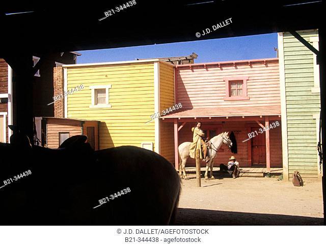 Film set of old Western building at Texas Hollywood near Tabernas. Almería province, Spain