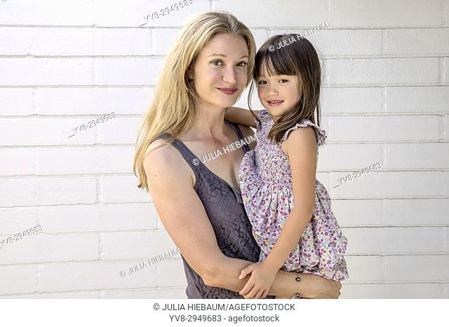 Mother with her five year old daughter