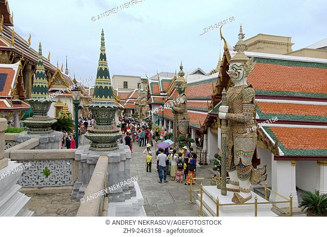 A Wat Phra Kaew Inner Compound Structure - Temple of the Emerald Buddha; full official name Wat Phra Si Rattana Satsadaram