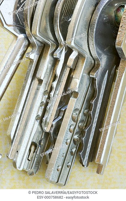 Detail of a set of silver keys