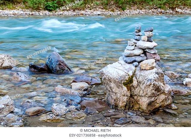 Steinmännchen am Wildwasser