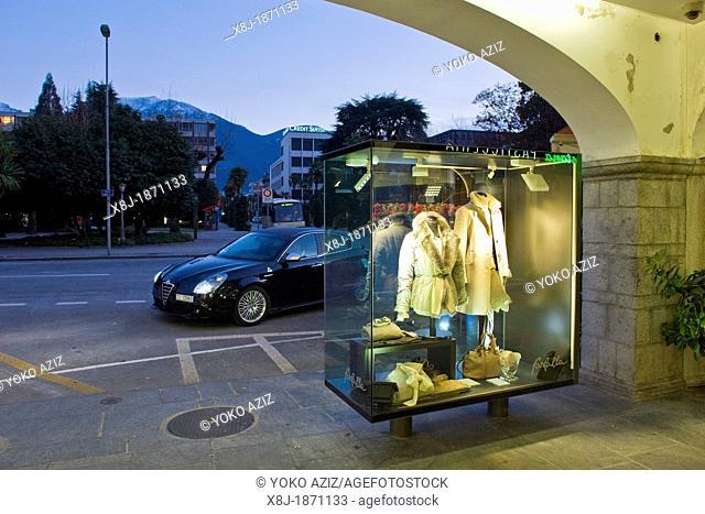 Switzerland, Canton Ticino, Locarno, shops