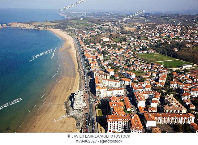 Beach, Hendaye, Txingudi Bay, Pyrénées-Atlantiques, Aquitaine, France