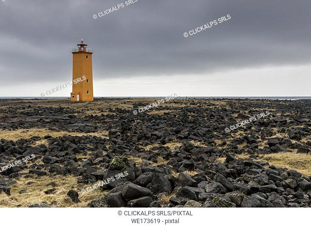 Selvogsviti lighthouse, Sudurland, south Iceland, Iceland, Europe