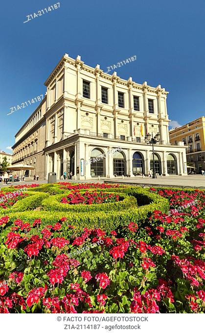 """""""Teatro Real"""" opera house at Plaza de Oriente square. Madrid. Spain"