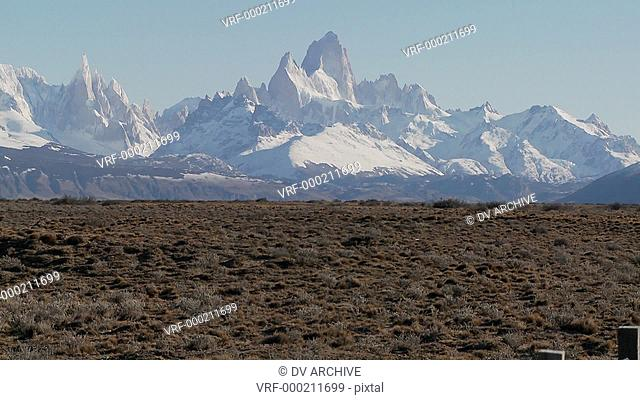 The beautiful vistas of Patagonia in the region called Fitzroy