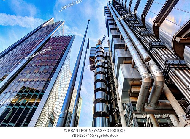The Lloyd's Building and The Willis Building, London, England