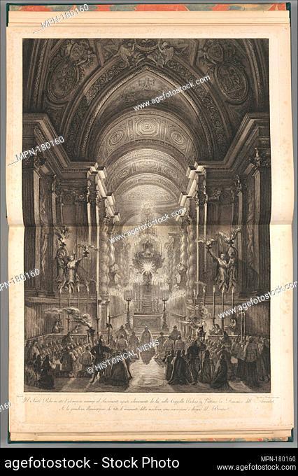 Ceremony held in the Cappella Paolina, Vatican. Artist: Francesco Piranesi (Italian, Rome 1758-1810 Paris); Artist: After Louis Jean Desprez (French