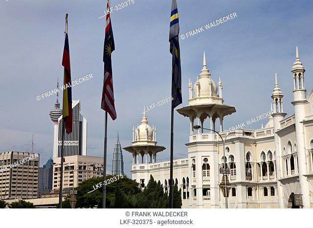 Main Railway Station, Menara Tower, Petronas Twin Towers, Kuala Lumpur, capital of Malaysia, Asia