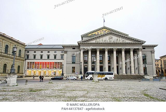 View of the Bavarian State Opera in Munich, Germany, 17 November 2013. The refurbishment of the burnt down theatre house was completed 50 years ago