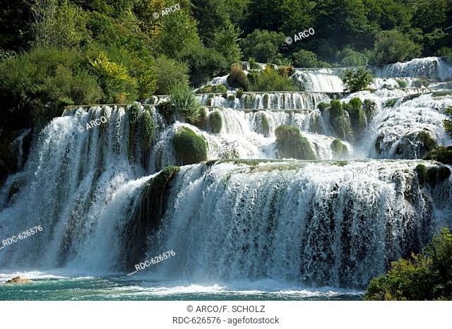 National park Krka waterfalls, Sibenik-Knin, Dalmatia, Croatia / Waterfall Skradinski buk