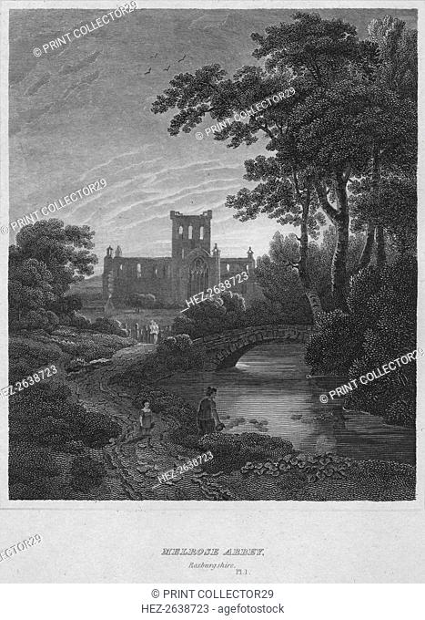 'Melrose Abbey, Roxburghshire', 1814. Artist: John Greig