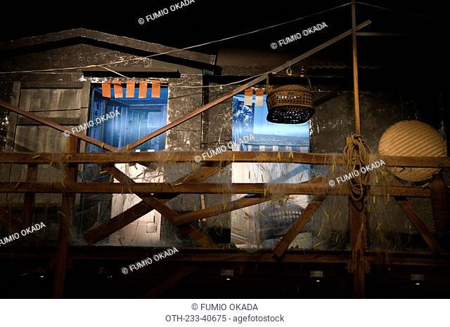 Fisherman's home exhibited in Hong Kong Heritage Museum, Shatin, Hong Kong