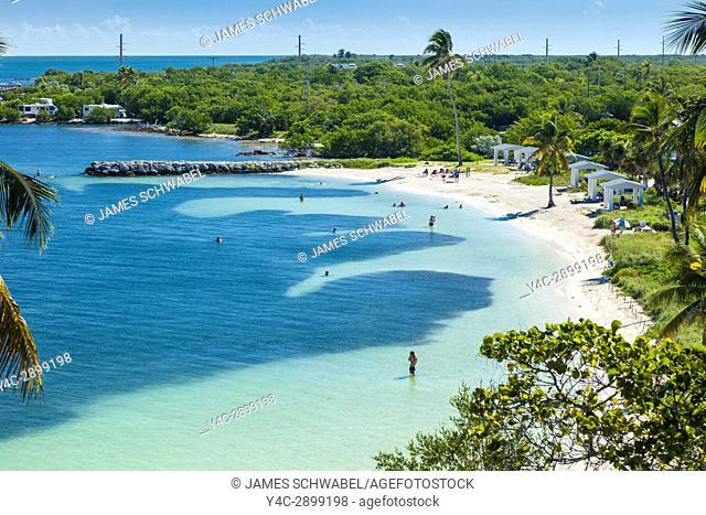 Clear clean water at Calusa Beach at Bahia Honda State Park on Big Pine Key in the Florida Keys