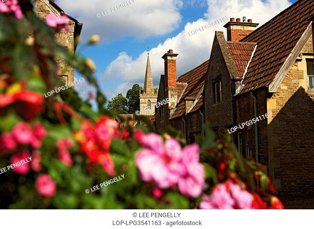 England, Wiltshire, Lacock. Lacock village in Wiltshire, an unspoiled village with most of the houses 18th century or earlier