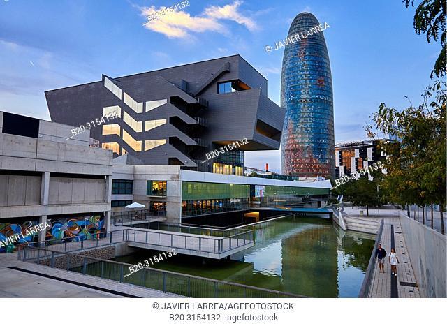 Design Museum of Barcelona, Agbar Tower, Plaça de les Glòries, Barcelona, Catalunya, Spain, Europe