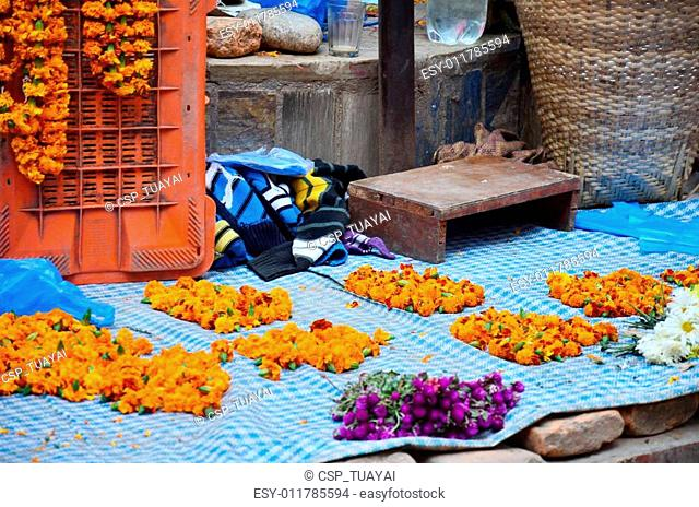Garland for sale at Thamel market