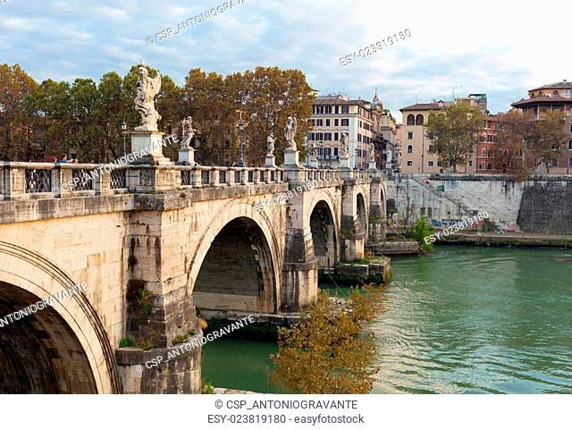The Bridge of Ponte Sant'Angelo, Rome