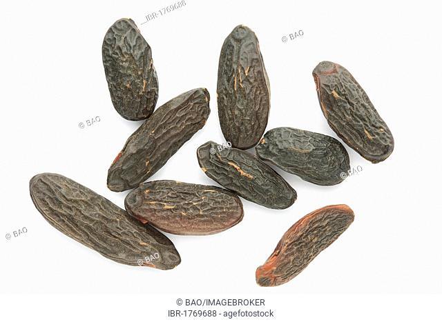 Tonka beans, seed of the Tonka tree (Dipteryx odorata), spice and flavoring