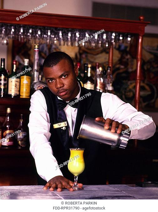 Barman Pouring Drink