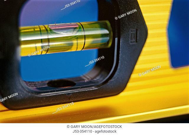 Close-up of carpenter's level