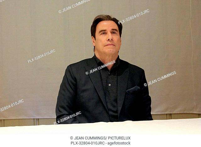 John Travolta at The People v. O.J. Simpson: American Crime Story Press Conference held on January 15, 2016 at the Four Seasons Hotel in Beverly Hills