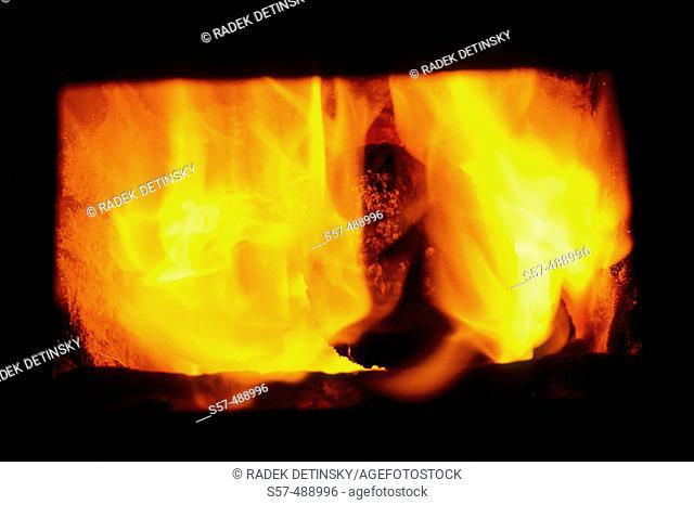 Heat, flame, coal burner