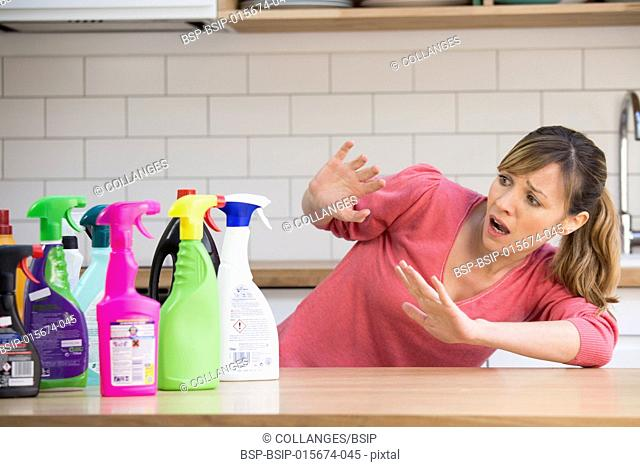 Toxic household cleaning products