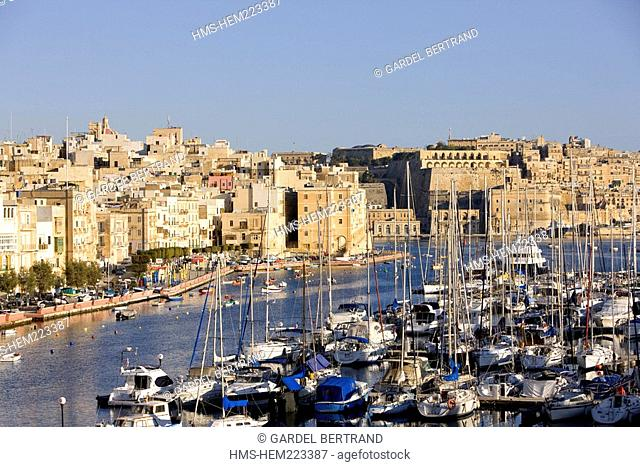 Malta, Valletta listed as World Heritage by the UNESCO, the Three Cities, Senglea