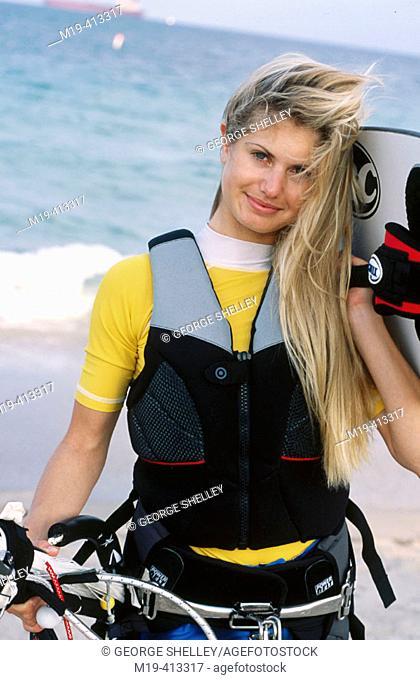 kite surfer girl