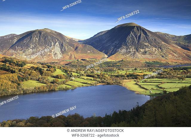 Grassmore captured from the Loweswater Terrace in the Lake Disrict National Park, on an afternoon in early November,