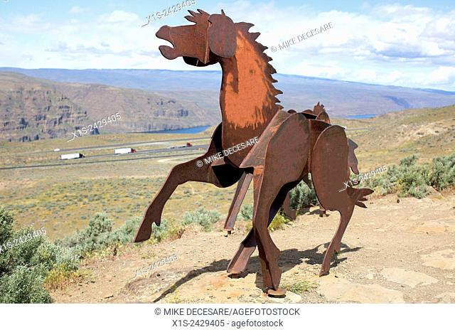 Wild Horse Monument near, Vantage, Washington