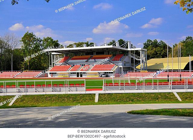 Urban Stadium. Inowroclaw, Kuyavian-Pomeranian Voivodeship, Poland