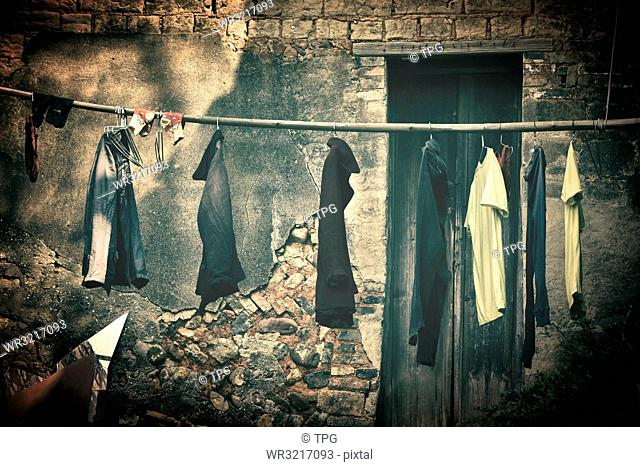 hanging clothes;Guilin;China