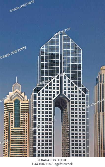 Dubai, United Arab Emirates, Middle East, UAE, architecture, fashionably, in a modern style, modern, skyline, blocks of flats, high-rise buildings