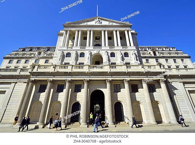 London,England, UK. Bank of England on Threadneedle Street