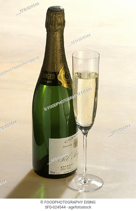 French Champagne with Glass