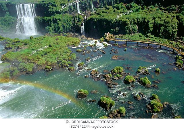 Iguazú falls. Brazilian side. Paraná state. Brazil