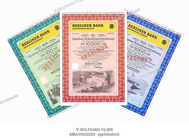 Bearer bond of the Berlin bank