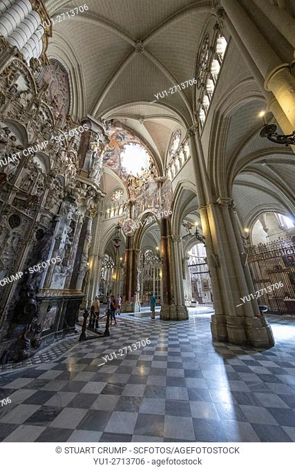 Interior of The Primate Cathedral of Saint Mary of Toledo