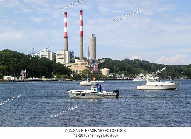 Power station, Port Jefferson, Brookhaven, New York, United States, North America