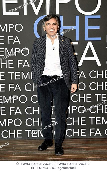 Vincenzo Salemme during the tv show Che tempo che fa, Milan, ITALY-14-04-2019