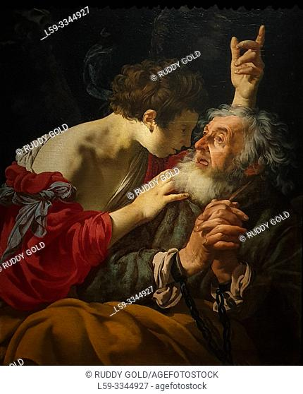 'The liberation of Peter', 1624, Hendrick ter Brugghen (1588-1629)
