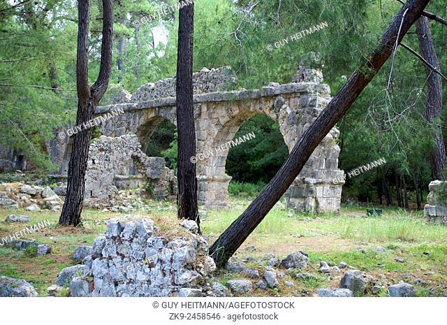 Aqueduct at Phaselis, Lycian Way, Turkey