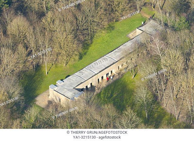 France, Meuse (55), Verdun, WWI battle fields, Thiaumont, Tranchee des baionnettes (aerial view)