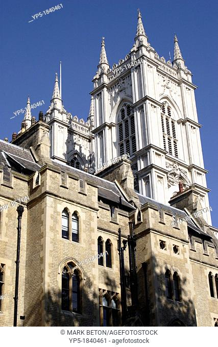 Westminster Abbey viewed from Dean's Yard London