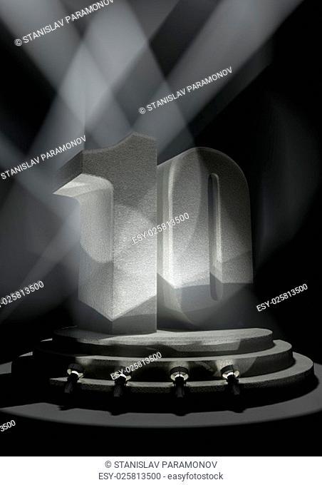Night Anniversary Scene with TEN on pedestal